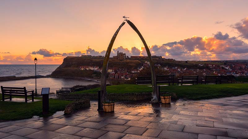 The Whitby Whale Bone Arch is a part of Whitby History