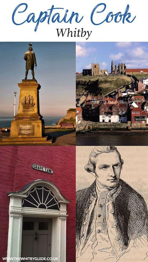 Captain Cook Whitby. One the the most famous people of Whitby.