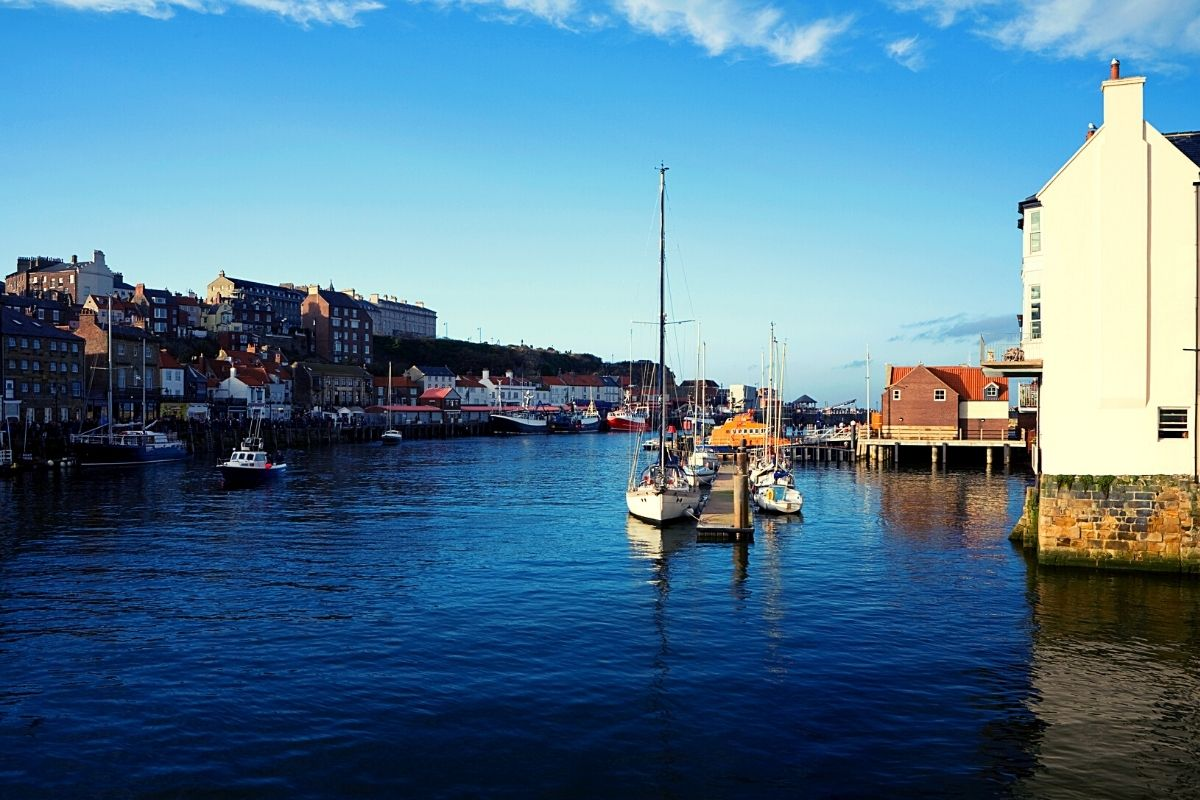 Take in a beautiful view Whitby Harbour when walking around Whitby