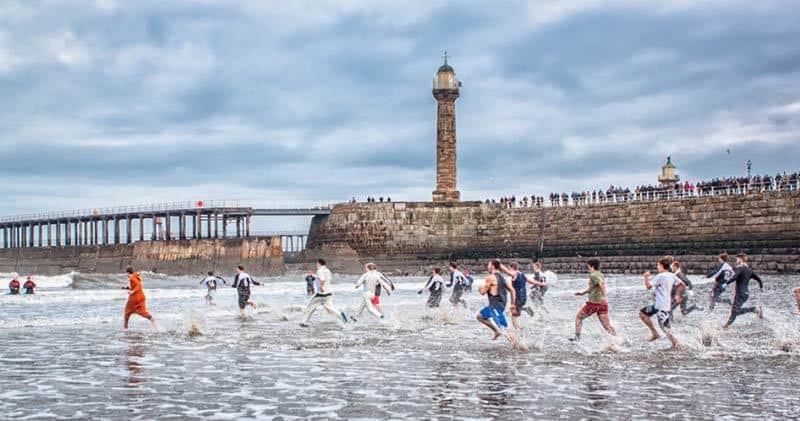Whitby's boxing day dip