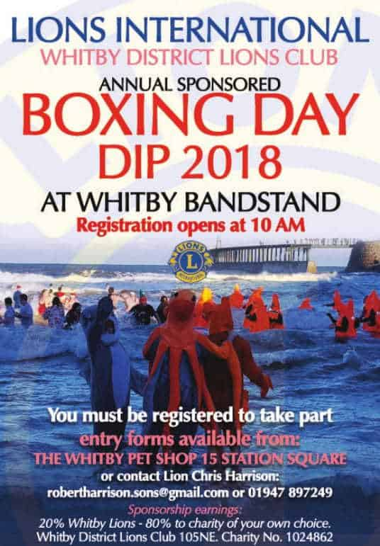 Whitby Lions Club Boxing Day Dip 2018