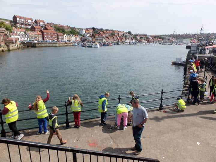 Crabbing in Whitby Harbour