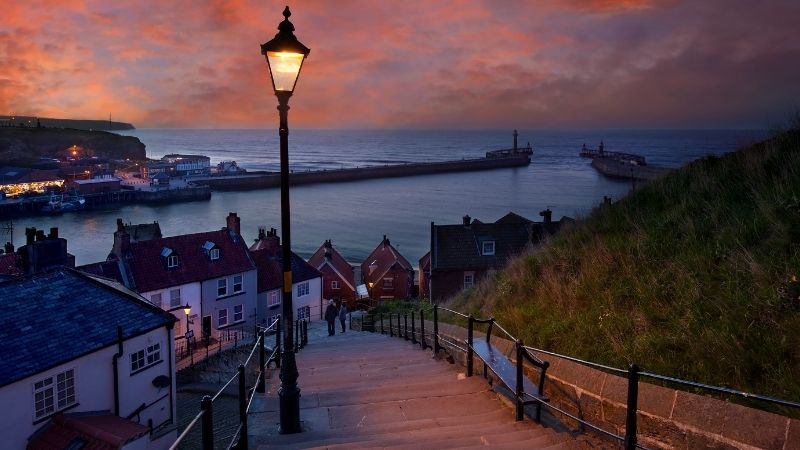 199 Steps Whitby Benches