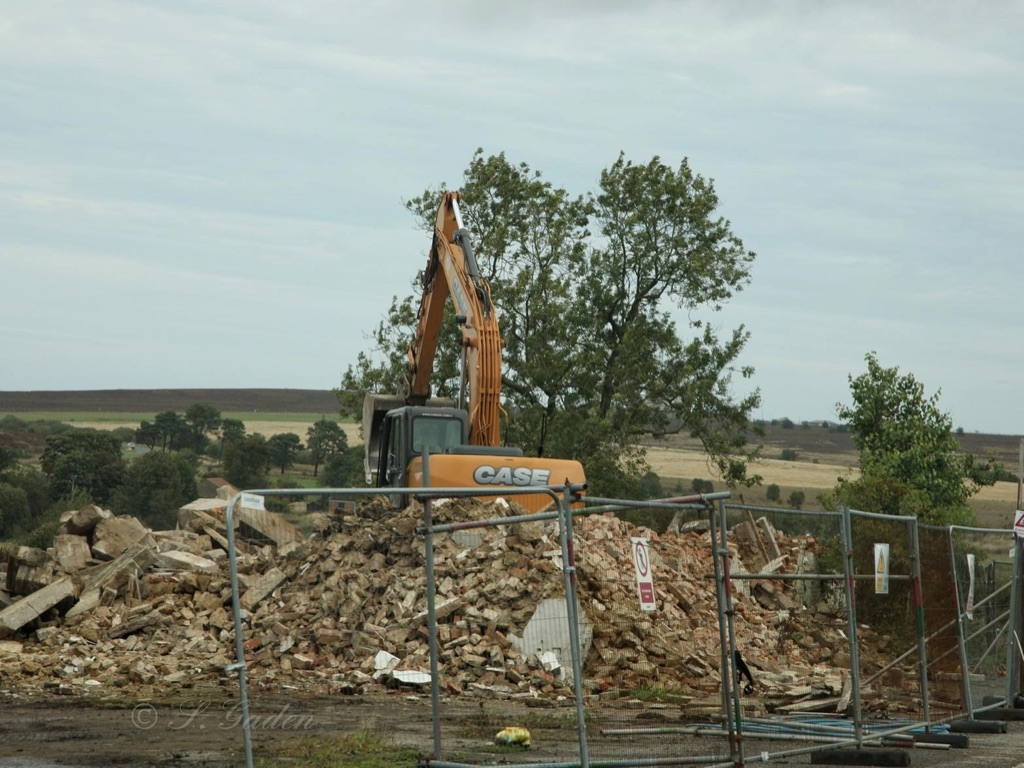 The demolition site. Picture by Sally Gaden