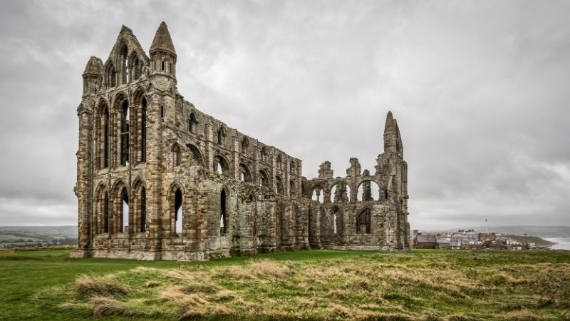 Whitby Abbey has links to the Dracula novel