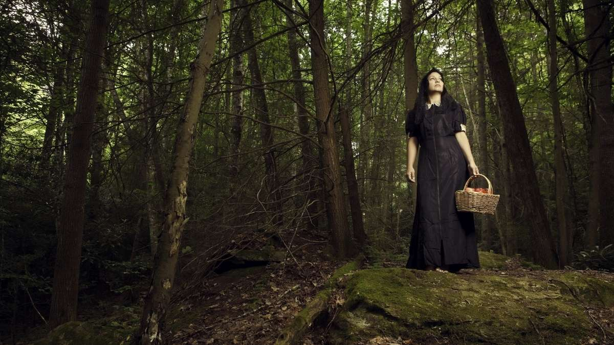 Witches of Whitby in a forest
