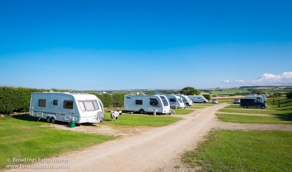Broadings Farm caravan park in Whitby