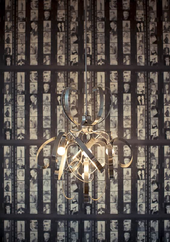 Feature wallpaper at Harry's Bar Whitby