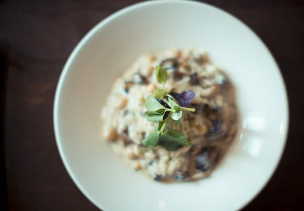 Wild mushroom and chickpea risotto; Harry's Bar Review Whitby