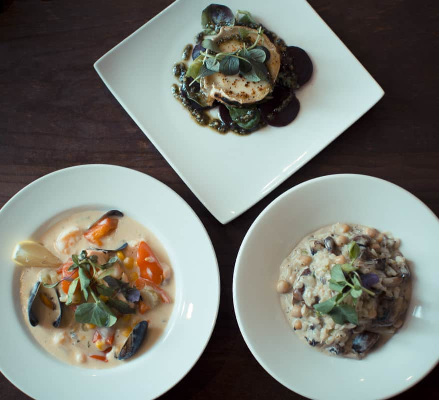 Our first three plates; Harry's Bar Review