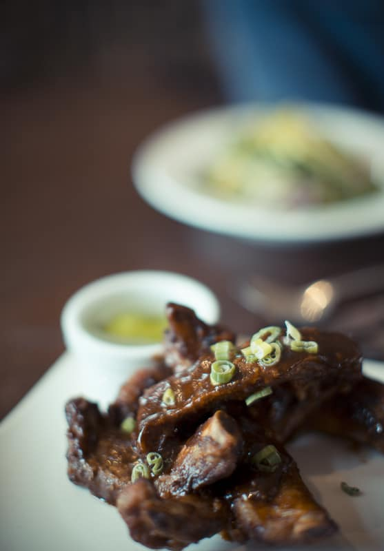 Juicy pork ribs; Harry's Bar Review