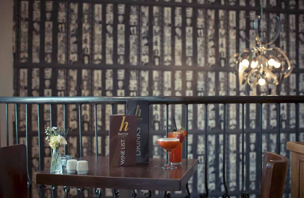 Cocktails for two with a view; Harry's Bar Review