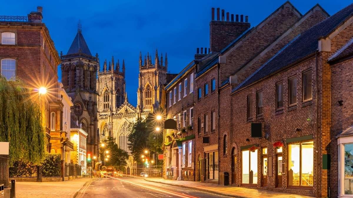 York Town at Night