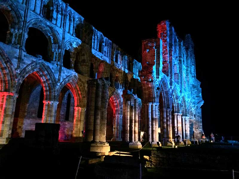 Whitby Abbey Illuminated