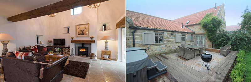 The Barn in Ellerby, Whitby with Hot Tub