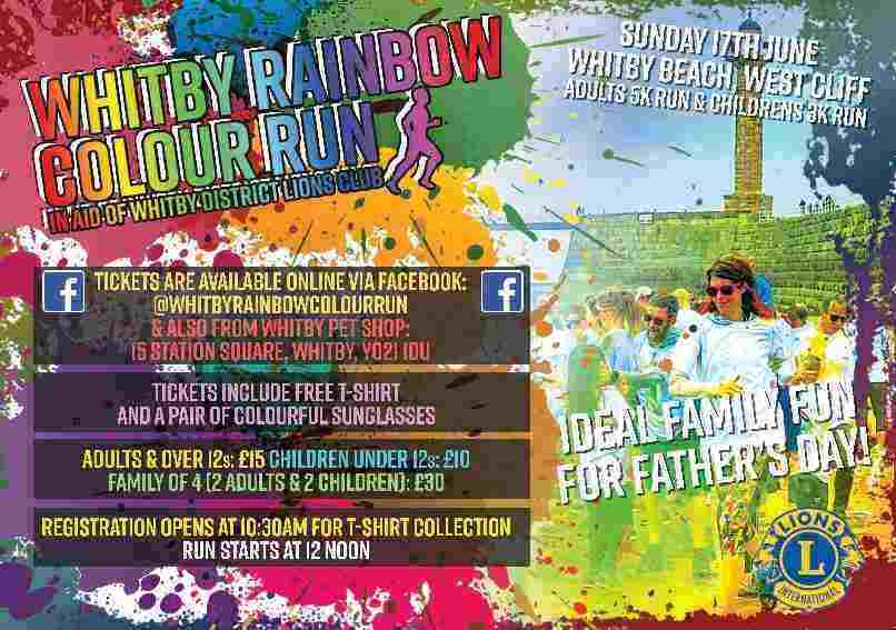 Whitby Rainbow Colour Run 2018