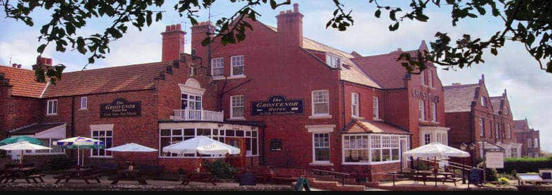 The Grosvenor Hotel; Large Robin Hoods Bay Pub