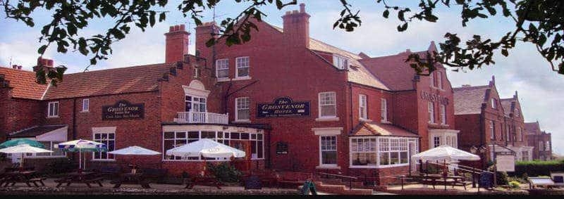 The Grosvenor Hotel; Large Robin Hoods Bay Pub