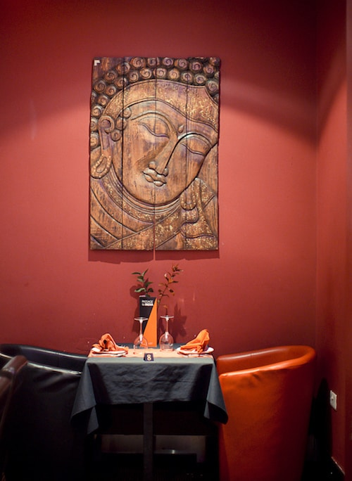 The Buddha and a comfy chair at Passage to India Whitby