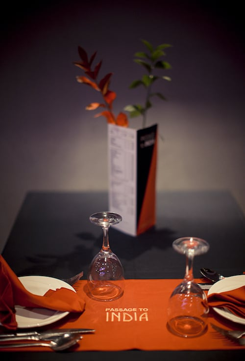 A romantic table for two at Passage to India Whitby