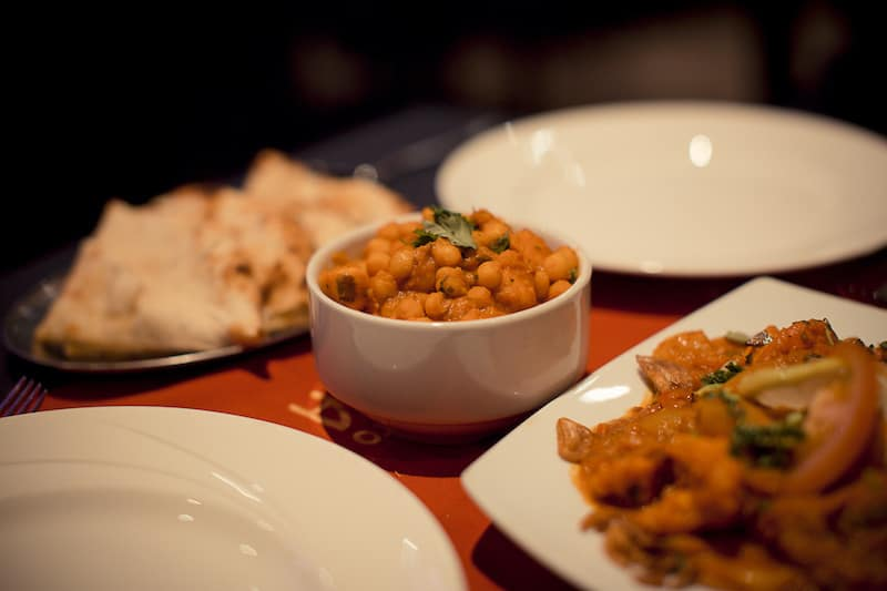 Main courses at Passage to India Whitby