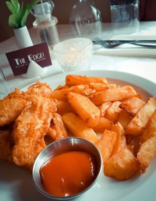 The Edge Restaurant in Whitby; Chicken Goujons and Homemade Chips