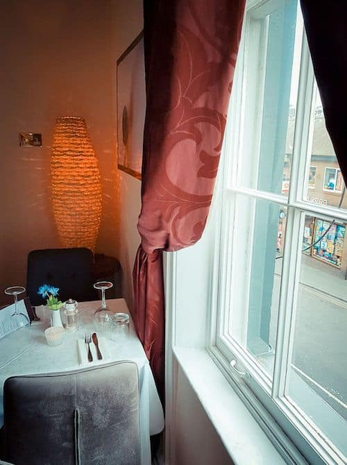 The Edge Restaurant in Whitby; Romantic Window Table
