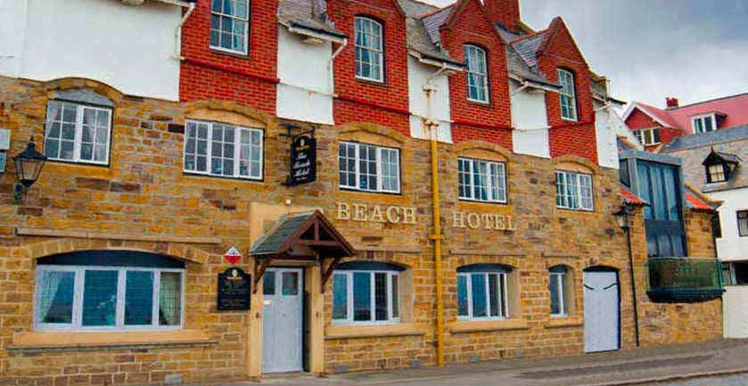 The Beach Hotel, Sandsend; pop in for a pint at the bar
