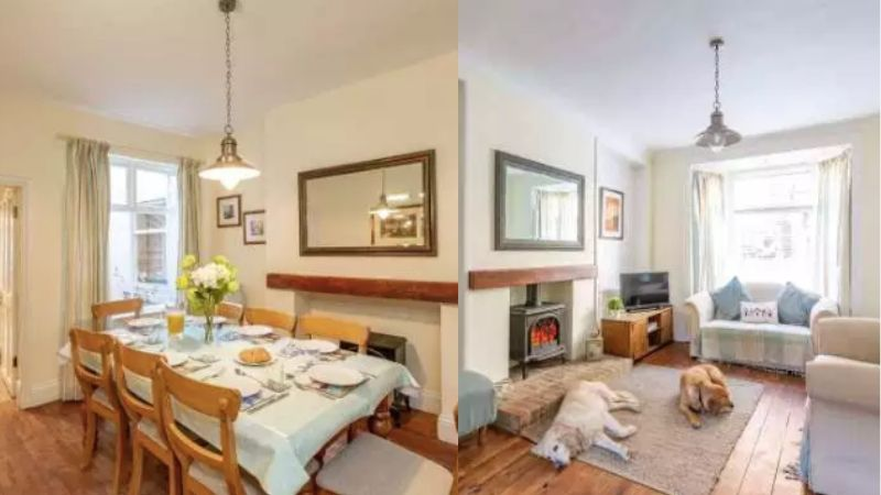Ravenscraig House holiday cottage in Staithes lounge