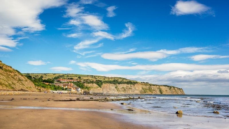 Exploring the beach is on of the best things to do in Robin Hood's Bay