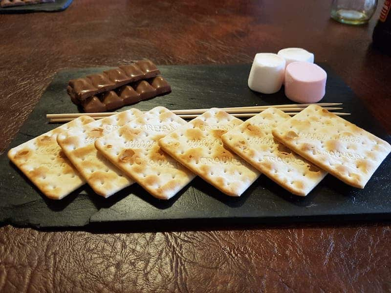 Crackers, marshmallow and chocolate at Burgsy's Burger House Whitby; Burgsy's Review