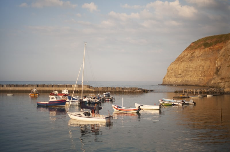 Fishing cobles in Staithes harbour