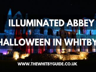 Illuminated Abbey; Halloween in Whitby