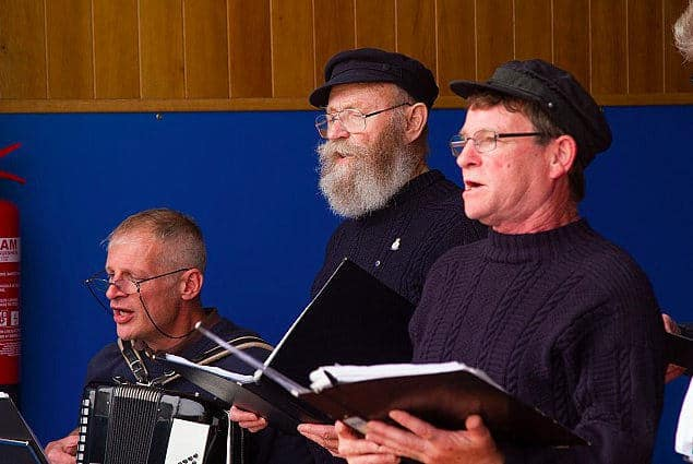 Men Of Staithes singing at Staithes Festival