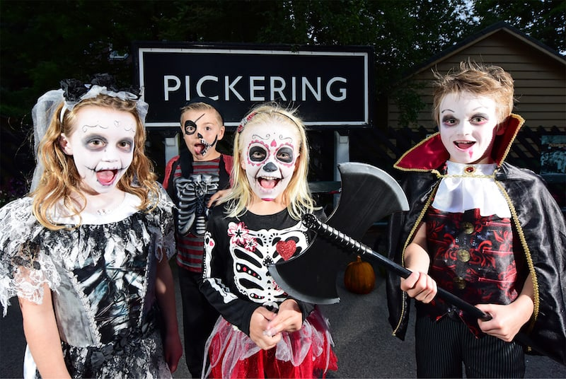 Fancy dress is encouraged on the Halloween Train on the North York Moors Railway