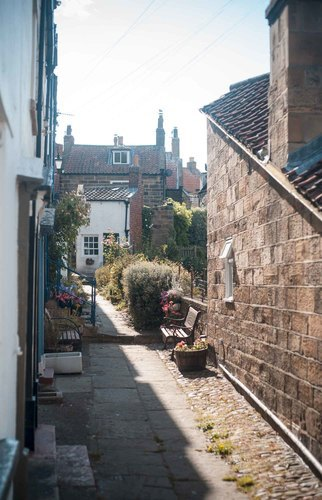 One of the charming lanes Robin Hoods Bay