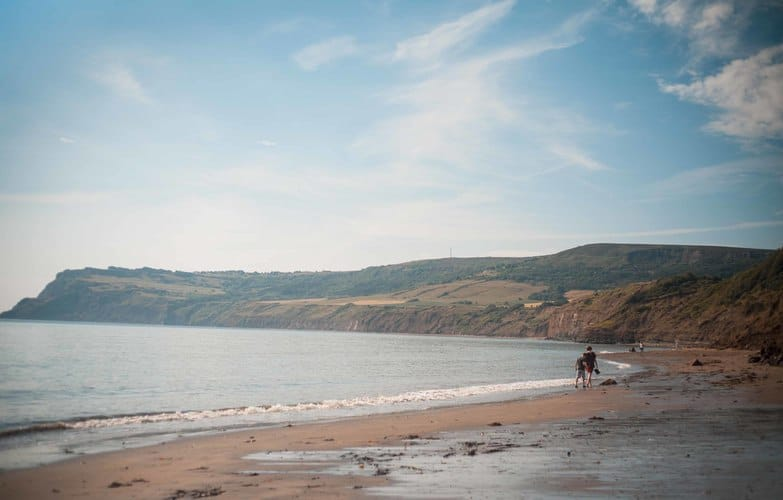 The beach at Robin Hoods Bay