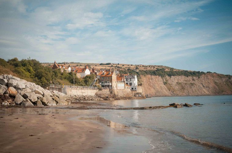 One Week in Robin Hoods Bay; Early morning swim