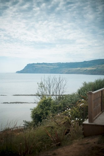 The Cleveland Way follows the beach at Robin Hood's Bay