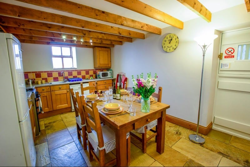 The kitchen at The Old Stables; a luxury cottage at Saltburn by the Sea