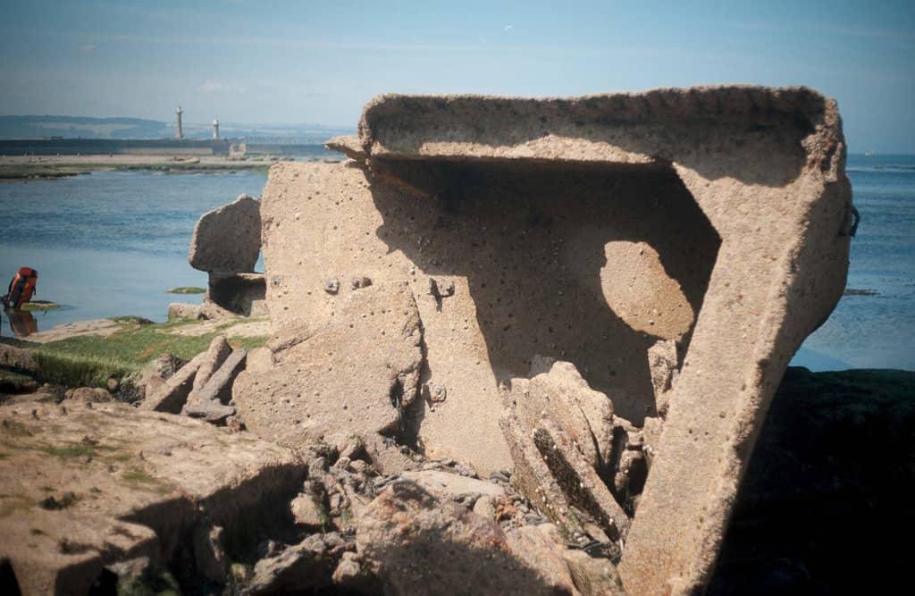 The bow of the MV Creteblock shipwreck