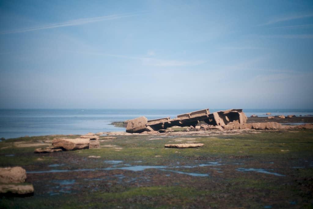 The MV Creteblock shipwreck on Whitby Scar