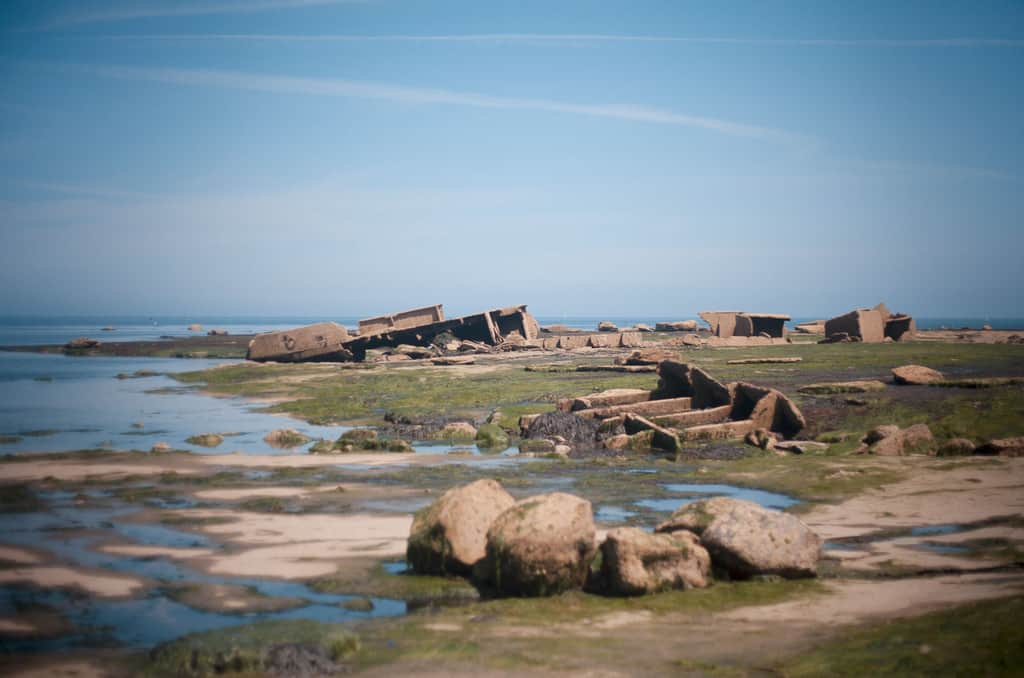 The MV Creteblock shipwreck can only be accessed at low tide