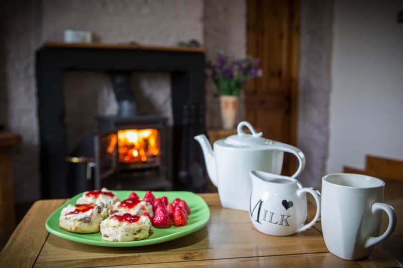 Tea for two at Apple Cottage a luxury romantic cottage near Whitby perfect for couples