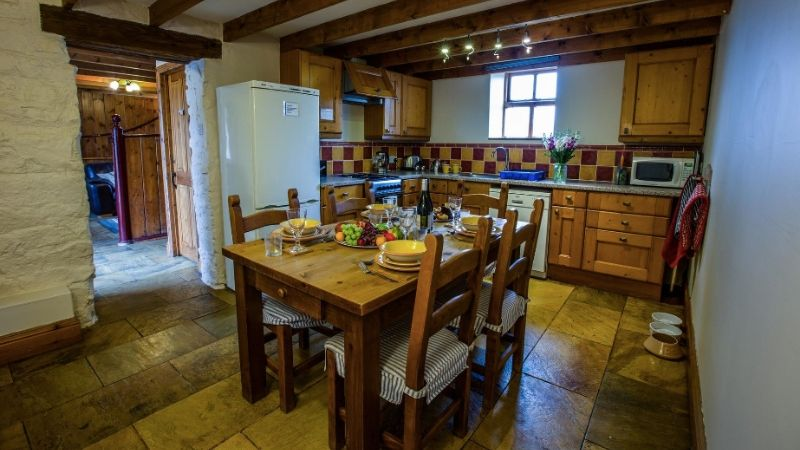 The kitchen at The Old Stables close to Runswick Bay