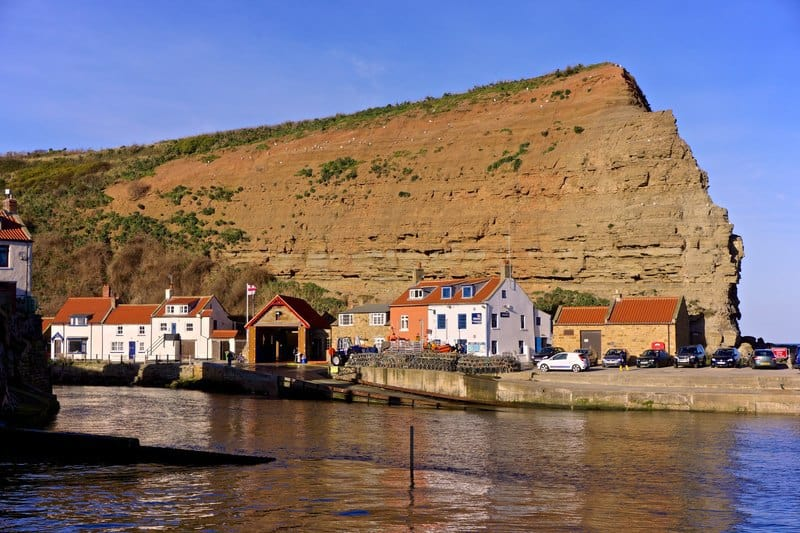 Runswick and Stithes joined forces to provide lifeboat services. Staithes Lifeboat Station. Photo taken by-Paul-Buckingham