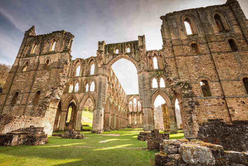 Rievaulx Abbey; well worth a visit from Runswick Bay