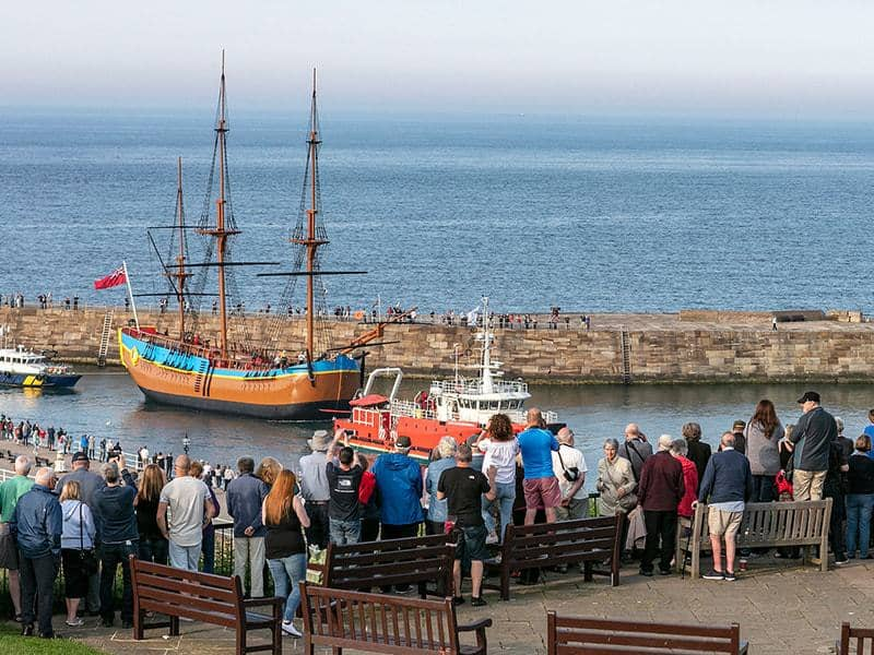 A warm welcome home, HM Bark Endeavour; The Endeavour Experience; Captain Cook's Iconic Ship Has Returned To Whitby