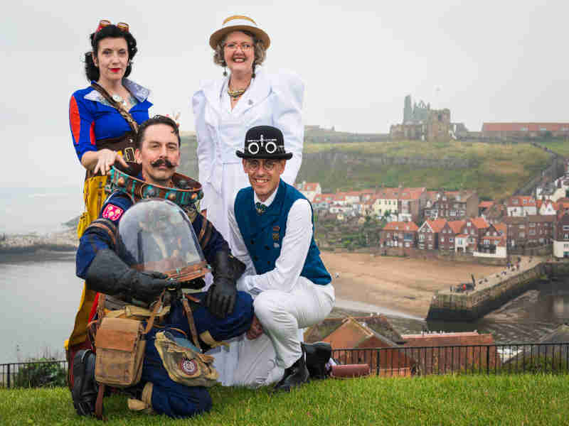 Steampunks at Whitby Steampunk Weekend