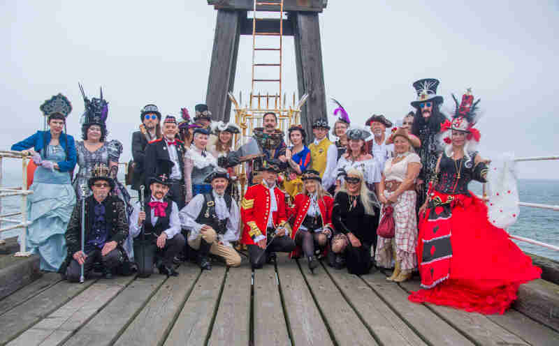 Whitby Steampunk Weekend on the Endeavour Image by John Adams